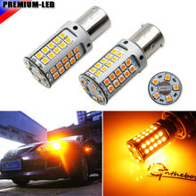 CANBUS No Hyper Flash 12V 21W High Power Amber BAU15S 7507 PY21W 1156PY LED Bulbs For Car Front or Rear Turn Signal Lights