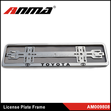 EURO SIZE Hot sell Toyota Fashion License Number Plate Frame Surround