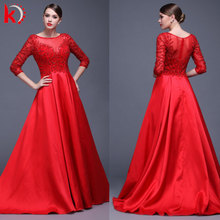 2016 The Most Sophisticated Design Elegant Long Sleeve Pretty Red Carpet Dresses