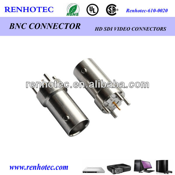 50 ohm 75 ohm straight bnc jack DIP connector for circuit board