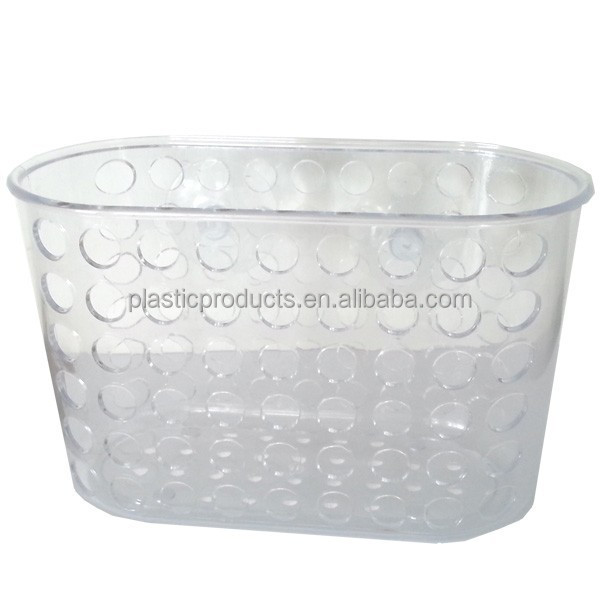 Wall mounted plastic shampoo basket