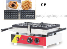 4pcs Commercial Use Non-stick 110v 220v Electric 180 Degree Square Belgian Liege Waffle Maker