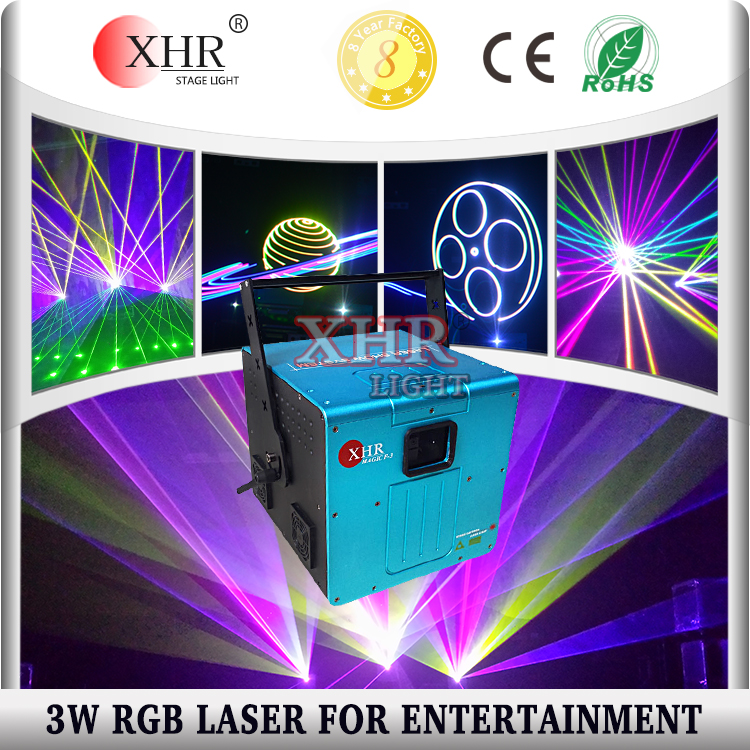 Laser 3w RGB Laser Diode DJ Special Effects Disco Laser Lighting, Text Logo Projector