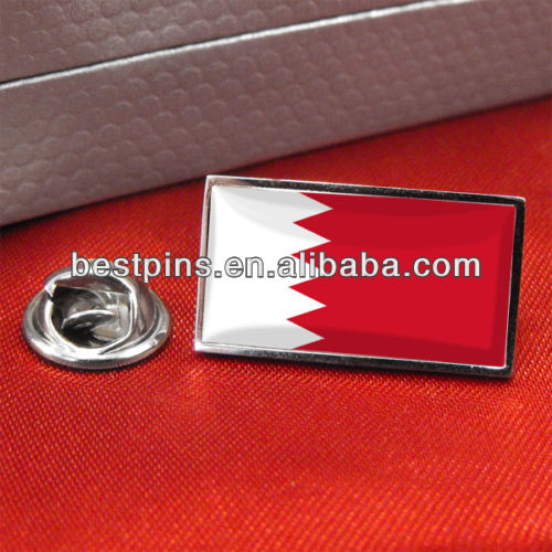 Bahrain flag lapel pin badge wholesale ,Bahrain badge for national day gifts
