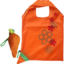 cheap polyester foldable bag strawberry shopping bag