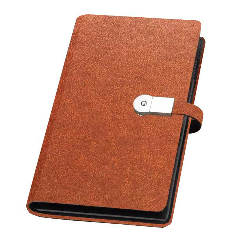2017 Novel Design Business Gifts Set PU Leather Notebook USB Flash Drive Gift Set With Card Holder