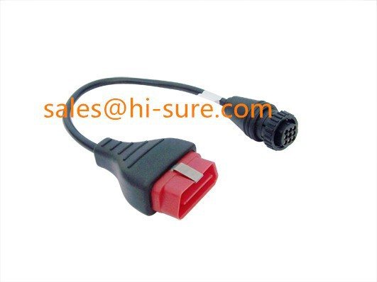 OBD Cable 16pin Male to aviation plug 9P water proof cable for OBD scanner