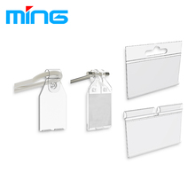Metal Wire Hook PVC Plastic Price Tag Holder for Glass Wood Shelves and Basket