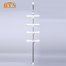 Hot High Manufacture Bathroom Accessories Stainless Steel Adjustable Shower Tension Pole Wall Shelf