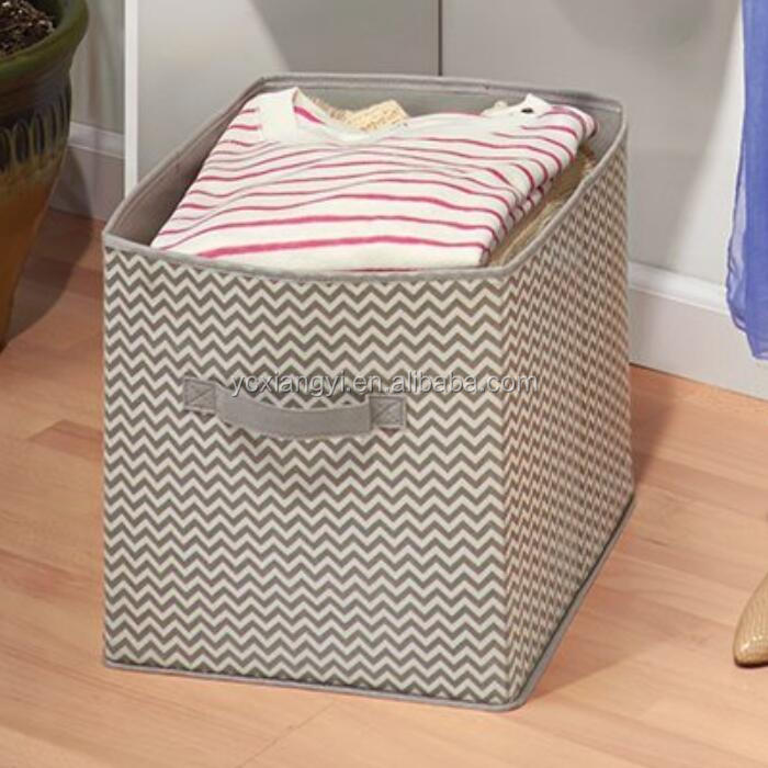 Most Popular Chervon Pattern Dress Storage Cube Box Organizer with OEM&ODM service
