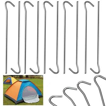 Heavy Duty Durable Metal Tent Pegs Ground Pegs Stakes Camping Gazeb