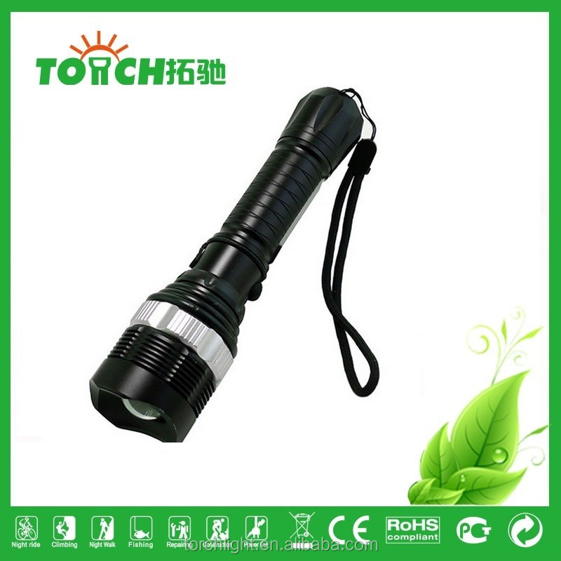 Outdoor Camping Led Flashlight 2000 Lumen Lamp waterproof zoomable recharger Lantern Flash Light Bicycle Lights Torch light