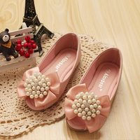 kids shoes 2016 New style fashion party girl shoe peep-toe shoes