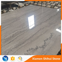 Customized House Hall Way Floor Decoration High Quality Chinese Shay Grey Marble with black vein