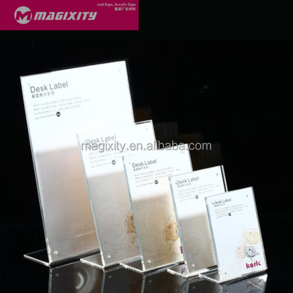 Customized transparent acrylic display product business card display stand