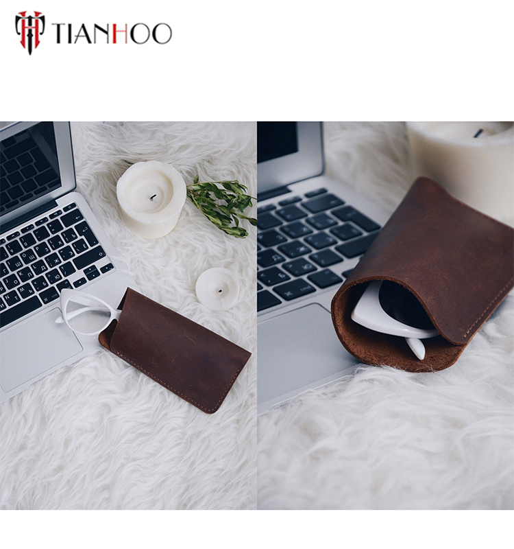shenzhen tanhooo new arrival leather glasses case,vogue style holder/ pouch for sunglasses eyeglasses