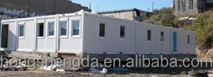 prefab shipping container offices /container shops/light steel sandwich panel houses