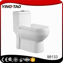 2017 new design dual flushing S trap P trap washdown one piece bathroom wc toilet