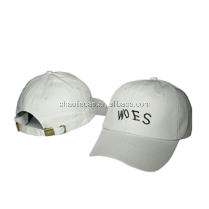 high quality embroidery 6 panel baseball cap unconstructed cotton cap