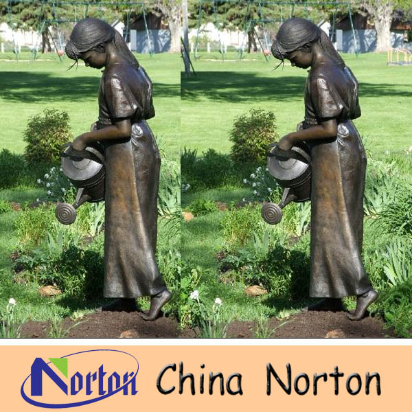Polished Technique and figure Theme Solid Bronze Sculpture NTBH-C691R