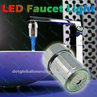 LED Water Glow Temperature Changing Sensor Sink Faucet Light