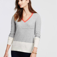 Jinan WFS Knitted Long Sleeves Colorblock