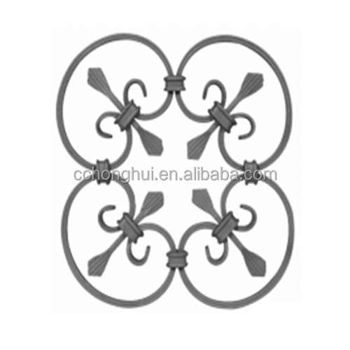 decoration of gate and fence house gate design cast steel flower