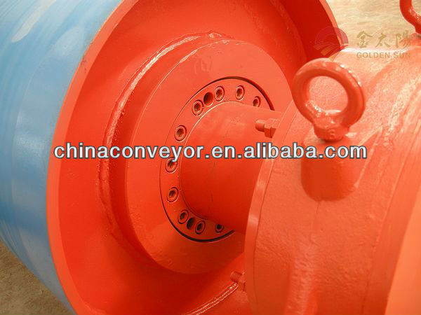 Belt Conveyor Tail Drum Pulley Rubber Lagging