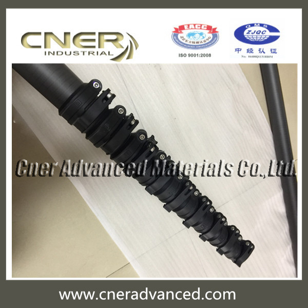 CC031 high stiffness carbon fibre extension washing pole with locking systems
