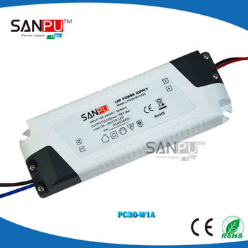 Factory direct sale plastic IP60 constant current led driver 1500ma