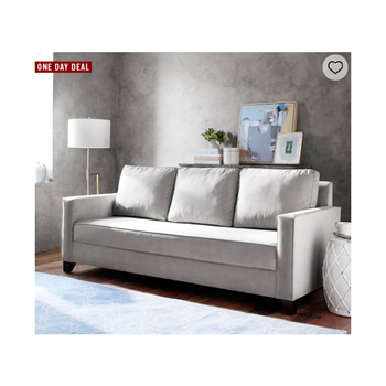 Home soft furniture American style square arm upholstered pull-up platform sleeper sofa