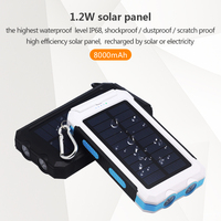 IP68 Waterproof 8000mah New Solar Phone