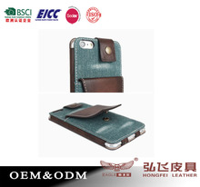 fashion denim leather phone case back case cell phone pouch for Huawei free sample stand card holder