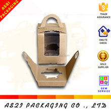 Alibaba food grade brown kraft cupcakes box inserts packaging with PVC window