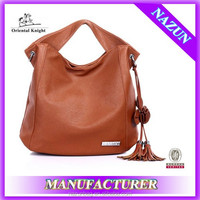 China wholesale market purses and handbags fashion brown women PU large handbag