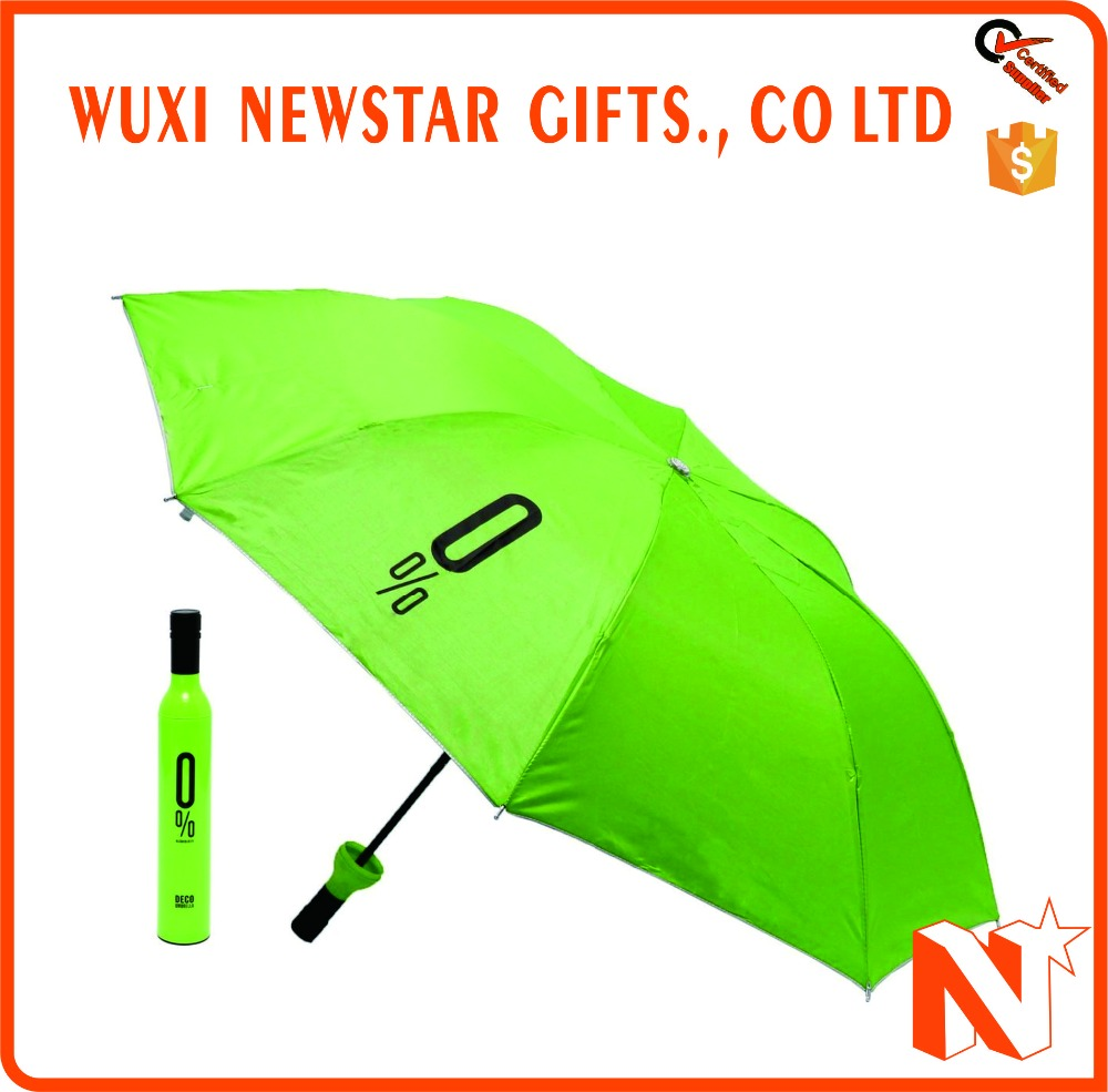 Cheap Folding Promotional Bottle Cap Umbrella