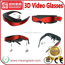 With 8GB flash/support Max 32GB TF card 98inch Virtual Display Full HD 1080p 3D Video Glasses