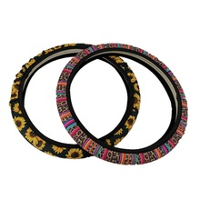 Hot Sale Custom Sublimation Universal Car Steering Wheel Cover