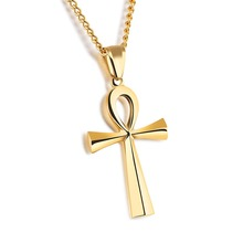 1180N Custom Design Personal Engraving Stainless Steel Cross Man Pendant Necklace
