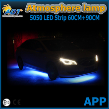 LED Bluetooth Phone Control Atmosphere Lamp Kit Car Foot Strip Light Flexible With Android iOS APP RGB Controller