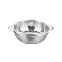 Stainless steel Rice Colander with two handles