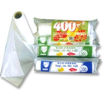 HDPE&LDPE transparent flat food packaging bags