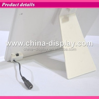White colour acrylic frame tabletop laser LED lighted led photo frame with hot open sexy girl sex pictur