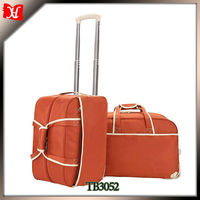 Wheeled garment bag nylon shopping bags with wheels removable cooler bag with wheels
