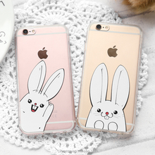 CITYCASE 2017 new products clear tpu case rabbit transparent phone case tpu for Iphone 6 6s Plus