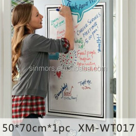 home use Dry erase PVC whiteboard sticker for drawing and studying for kids