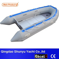 CE imported 1.5mm pvc fabric inflatable fishing boat for sale