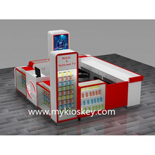 customized cell phone repair kiosk with glass store mobile phone display showcase