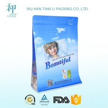 Flat Bottom Plastic Side Gusset PET Food Packaging Bag with Zipper