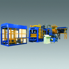 hydraulic full auto QT10-15 cement brick block packing making machine in South Africa